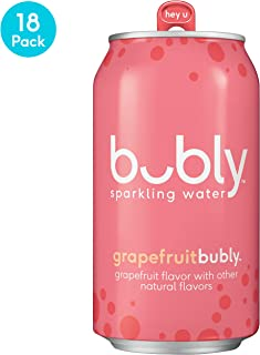 bubly Sparkling Water, Grapefruit, 12 fluid ounces cans,  (18 Pack)