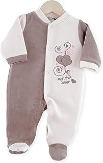 45d1d31687587 Kinousses 810 2075 Pyjama en Velours pour Fille Rose 0 Mois