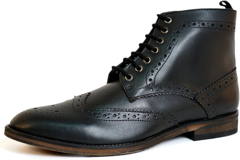 Aspele Klassische Herren Brogues Stiefelette aus Leder Leder  Alle Waren sind Specials