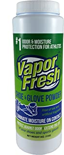 Vapor Fresh Foot Shoe and Glove Powder - All Natural Shoe Deodorizer - Powerful Foot Odor Eliminator for Stinky Feet - 6 Ounces (1 Pack)