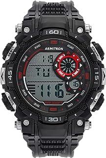 Armitron Sport Men's Quartz Sport Watch with Plastic Strap, Black, 22 (Model: 40/8397RBK)