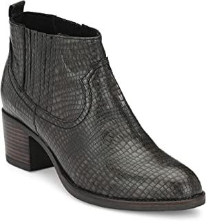 Delize Black Chelsea Ankle Boots for Women's