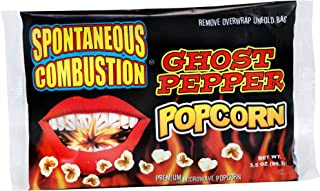 Spontaneous Combustion Ghost Pepper Microwave Popcorn Bags - 6 Pack - Ultimate Spicy Gourmet Popcorn - Perfect Hot Movie Theater Popcorn for Home - Try if you dare!