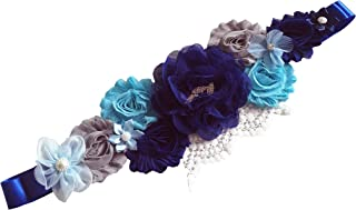 FANFAN Pregnant Sash Maternity Sash Belt with Flowers Bridal Wedding Sash Belt Y03 …