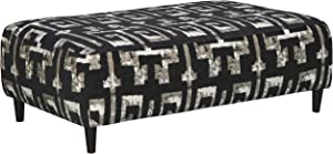 Signature Design by Ashley - Ravenstone Patterned Oversized Accent Ottoman, Black