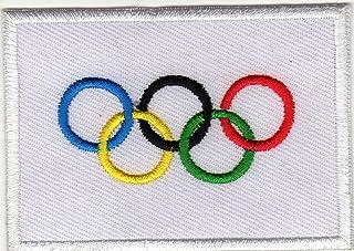 iron on patch パッチにアイロン 刺繍 Olympic Flag IOC Sport オリンピック 旗 スポーツ