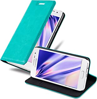 Cadorabo Book Case Works with Samsung Galaxy A3 2015 in Petrol Turquoise – with Magnetic Closure, Stand Function and Card Slot – Wallet Etui Cover Pouch PU Leather Flip