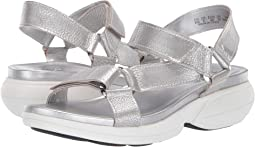 Silver Frost Metallic Tumbled Leather