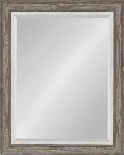 Kate and Laurel Woodway Framed Wall Mirror, 27.5x33.5, Gray