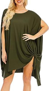 Women Oversize Boho T Shirt Dress, Wren Tunic Tops for Leggings, Beach Swimsuit Cover Up
