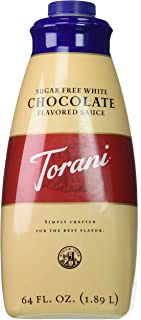 Torani Sugar Free White Chocolate Sauce, 64 Ounce