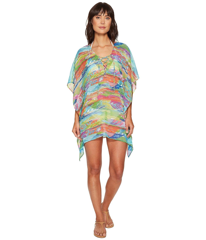[ラルフローレン] LAUREN Ralph Lauren レディース Ikat Stripe Crinkle Poly Chiffon Laced Tunic Cover-Up ドレス [並行輸入品]