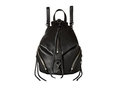 Rebecca Minkoff Convertible Mini Julian Backpack (Black 1) Backpack Bags