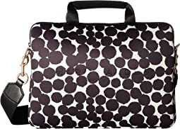 "Neoprene Graphic Painted Dots Tech 13"" Commuter Case"