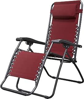 Caravan Sports Infinity Zero Gravity Chair, Burgundy (Renewed)