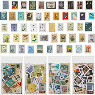 160 Pièces Autocollants Scrapbook Vintage Autocollant Décoratif Naturel Antique de Motifs Assortis pour Ordinateur Portabl...