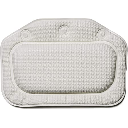 Croydex (クロイデックス) バスピロー ホワイト (BG2070-22) すべり止めバスピロー 縦21×横30×厚さ3cm 140g 3つの吸盤でしっかり固定 洗濯機丸洗い可 PVC製 マレーシア製