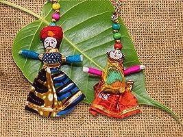 JH Gallery Handmade Recycled Material Dolls Hangings Lumba Rakhi Tassels/Bhaiya Bhabhi Rakhi/Gifting Rakhi/Rakshabandhan...