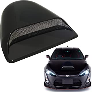 Mega Racer Universal Decorative Paintable Hood Scoop Smoke Black Sport Racing Air Flow Intake Vent Cover Nismo Style Auto