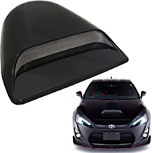 Mega Racer Universal JDM Style Decorative Hood Scoop Smoke Black Air Flow Intake Vent Cover Auto Car Truck Sport Racing