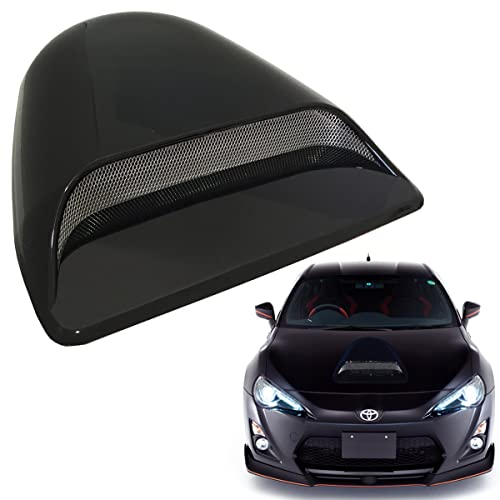 Mega Racer Universal JDM Style Decorative Hood Scoop Smoke Black Air Flow Intake Vent Cover Auto