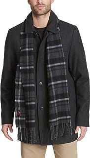 Dockers Men's Weston Wool Blend Car Coat with Scarf (Standard & Big-Tall Sizes)
