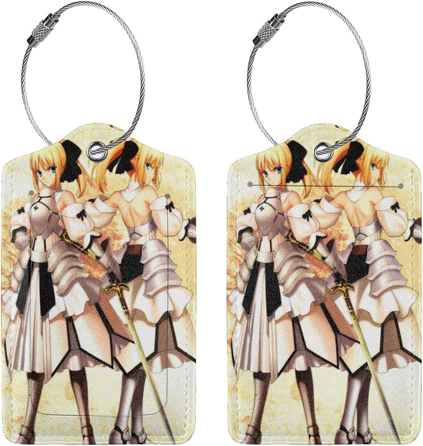 Fate Zero Saber Anime Selling Under blast sales Luggage Lightweight Tags Tag Suitcase Trav