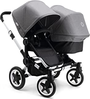 Bugaboo 2015 Donkey Duo Stroller Complete Set in Aluminum and Black