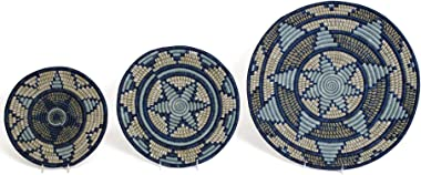 All Across Africa Set of 3 Wall Decor Plates for Living Room or Bedroom Gift That Gives Back