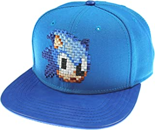 Sega Genesis Sonic The Hedgehog Hat - Blue 8 Bit Pixel Don't Blink Snapback