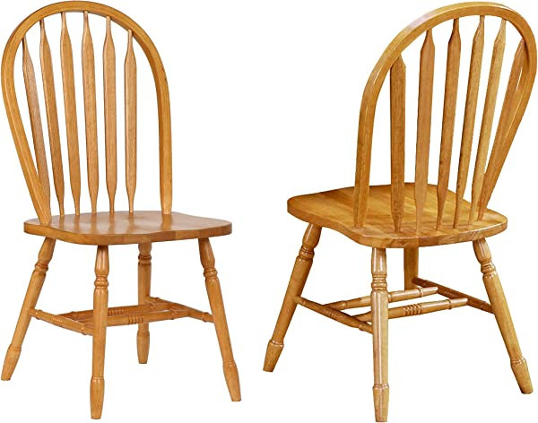 Sunset Trading Arrowback Dining Chair RTA Set Of 2 38 Light Oak