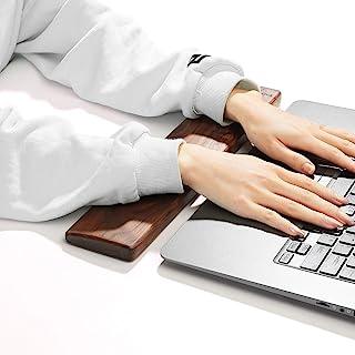 Wooden Keyboard Wrist Rest, Keyboard Wooden Palm Rest,Keyboard Wrist Rest Pad, Walnut Wrist Rest, Solid Wood Mouse Pad Wri...