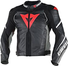 Dainese Super Speed D1 Leather Jacket Black/Anthracite/White 48 Euro/38 USA