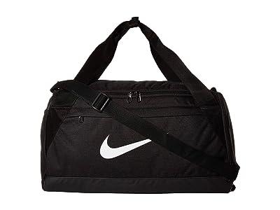 Nike Brasilia Small Training Duffel Bag (Black/Black/White) Duffel Bags
