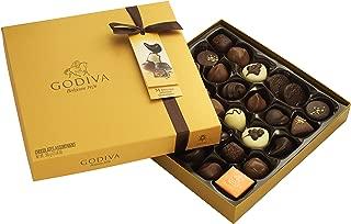 Godiva Gold Rigid Box, assortimento praline e bonbons in confezione regalo 24 pezzi, 290 gr