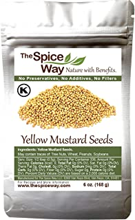 The Spice Way Yellow Mustard Seed - ( 6 oz ) whole seeds, resealable bag