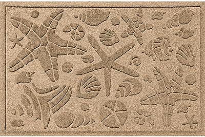 """Aqua Shield Beachcomber Doormat, Camel, 2"""" x 3"""""""