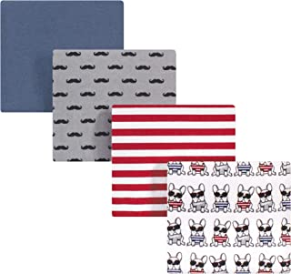 Hudson Baby Unisex Baby Cotton Flannel Receiving Blankets, French Dog, One Size (59340)