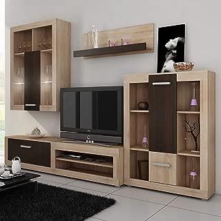 Furniture.Agency TV Set Led Multiple Finishes Sonoma Oak/Dark Oak Sonoma Oak/Dark Oak