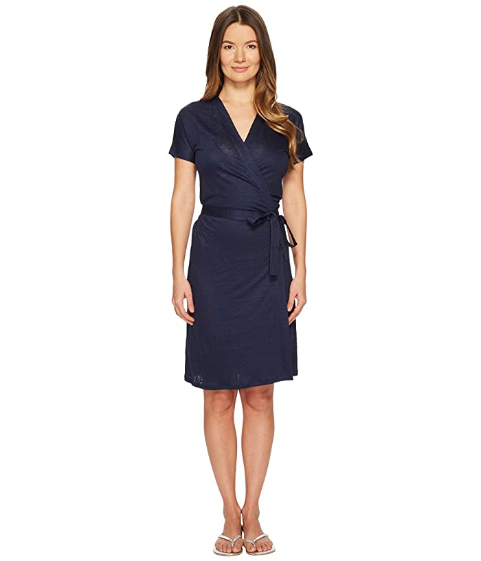 Vilebrequin Felicia Solid Linen Jersey Cover-Up (Navy) Women