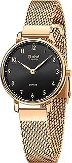 Dohe Women Watch Thin Minimalist Quartz Wrist Watches Casual Lady Dress Watch 28mm/1.1