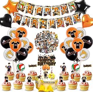 Haikyuu Birthday Party Decorations for Kids,Haikyuu Party Supplies Set Include Stickers,Haikyuu Happy Birthday Banner, Hai...