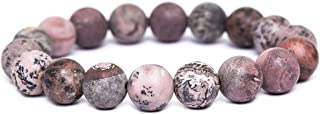 tom+alice Natural Stone Gemstone Healing Power Beaded Stretch Beacelets 10MM Round Beads for Women & Man