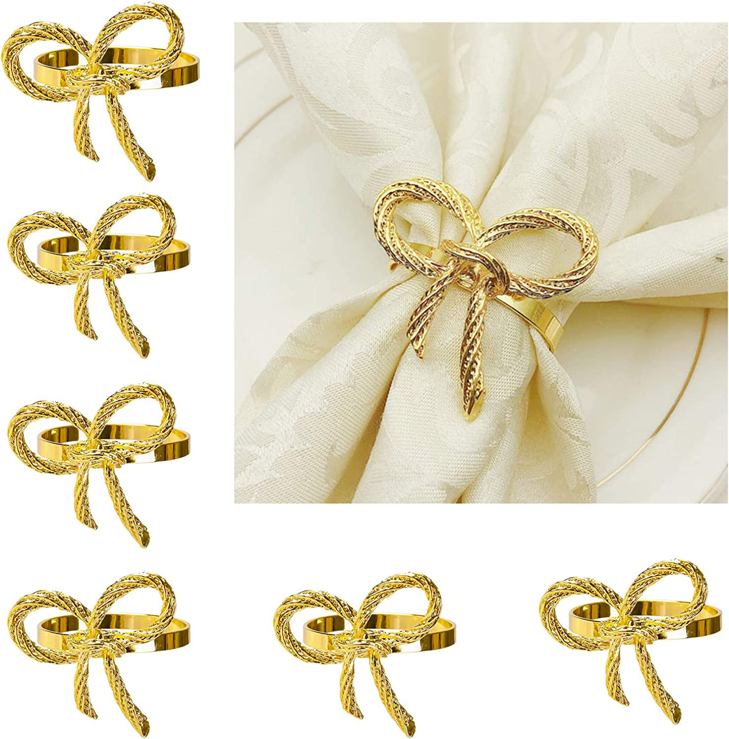 ButterflyNapkins Rings New life Set of 6 fo Holder Free Shipping Cheap Bargain Gift Gold Napkin