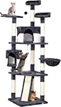YAHEETECH 79in Multi-Level Cat Trees with Sisal-Covered Scratching Posts, Plush Perches and Condo for Kittens, Cats and Pets