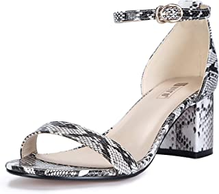 Women's Cookie-LO Low Block Heels Chunky Sandals Ankle Strap Wedding Dress Pump Shoes