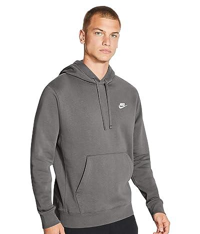 Nike NSW Club Hoodie Pullover (Flat Pewter/Flat Pewter/White) Men