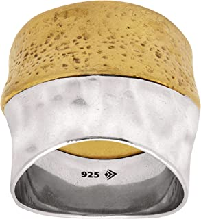 Silpada 'Rain or Shine' Textured Ring in Sterling Silver and Brass