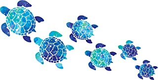 WIRESTER Clear Decal Vinyl Wall Sticker Decoration for Home Office Living Room Wall Bathroom Toilet, Sea Turtles