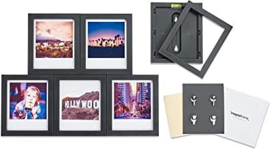 MAGNAFRAME Magnetic Picture Frame for Polaroid Instant Photos - Photo Gallery 6 Pack (Black)